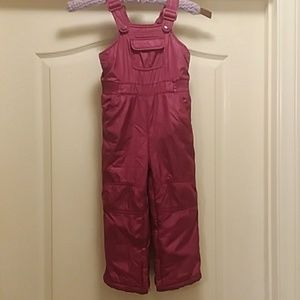 Baby Gap size 3 red pink snow bib warm ski